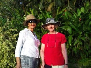 Patricia Cleveland-Peck with Fay Miller at Hyde Park Grenada