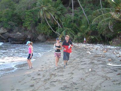 Hashing along Bacolet Beach