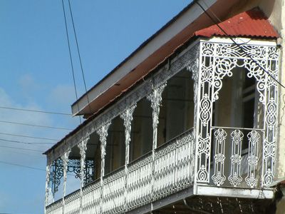 French wrought iron veranda