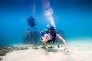Diving at Grenada's Underwater Sculpture Park